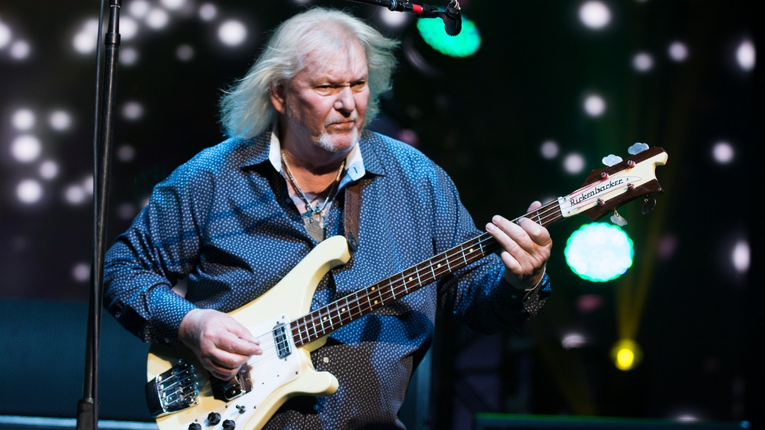 NEW YORK, NY - JULY 09: Chris Squire of the British band Yes performs at Radio City Music Hall on July 9, 2014 in New York City. (Photo by Dave Kotinsky/Getty Images)