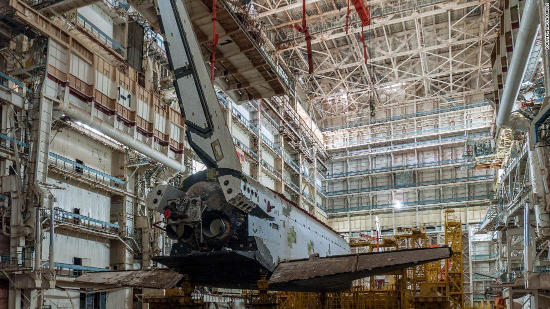 That's not to say the entire Baikonur Cosmodrome site is in such a decaying state. In fact, this hangar is just a few kilometers from the launchpad where cosmonaut Yuri Gagrin became the first person to fly into space in 1961 -- a launchpad that is still in use today.