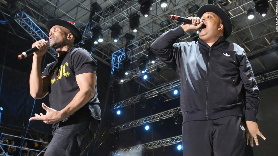 "Run-D.M.C.'s Darryl McDaniels, left, aka D.M.C., and Joseph Simmons, aka Run, <a href=""http://www.theguardian.com/culture/2015/jun/15/bonnaroo-festival-independent-livenation-tennessee"" target=""_blank"">rocked Tennessee's Bonnaroo Music and Arts Festival </a>this year, reprising hits such ""It's Tricky,"" and ""Walk This Way."" Here they perform in Miami Gardens, Florida, in 2015."