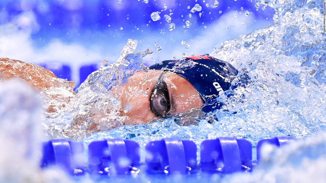 Norway's Eivind Bjelland swims the 400-meter freestyle during a preliminary race Tuesday, June 23, at the European Games.