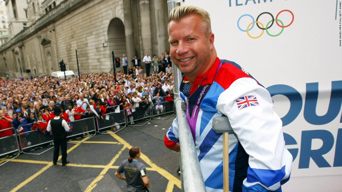 "Pearson has been dubbed a ""gay icon"" for his prominence as an out athlete on the British Paralympic team."