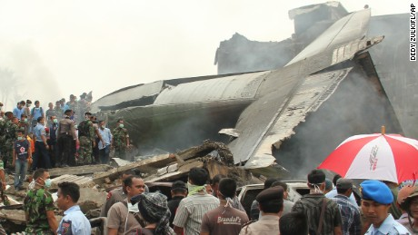 Cargo plane crashes in Indonesia