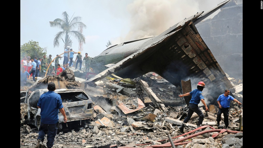 Scores dead after C-130 plane crash in Indonesian city - CNN