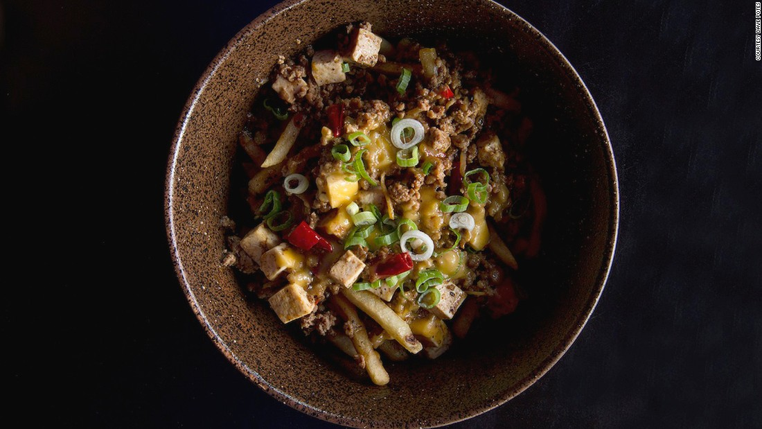 King Noodle's mapo tofu chili cheese fries combine American cheese, ground pork and French fries with the classic Sichuanese tofu stew.
