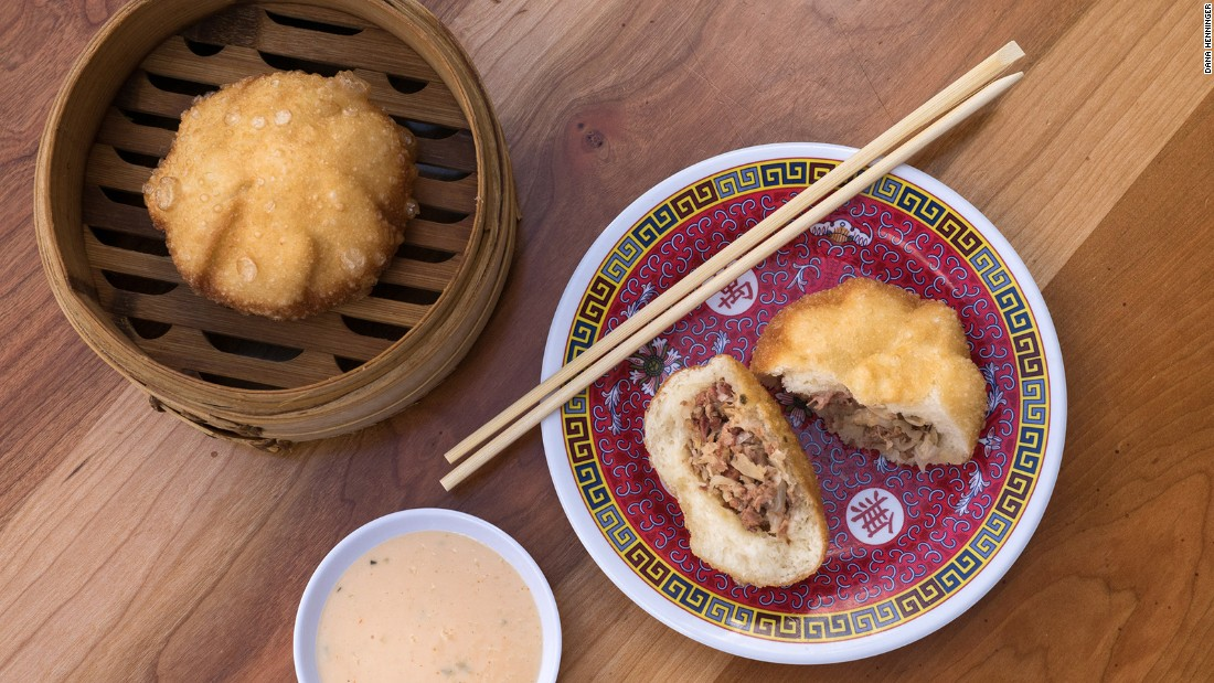 "Ever thought to yourself, ""Traditional Asian dumplings would taste a whole lot better if they were stuffed with pastrami, Swiss cheese and sauerkraut""? Then you're going to love the pastrami bao served at Bing Bing Dim Sum in Philadelphia."