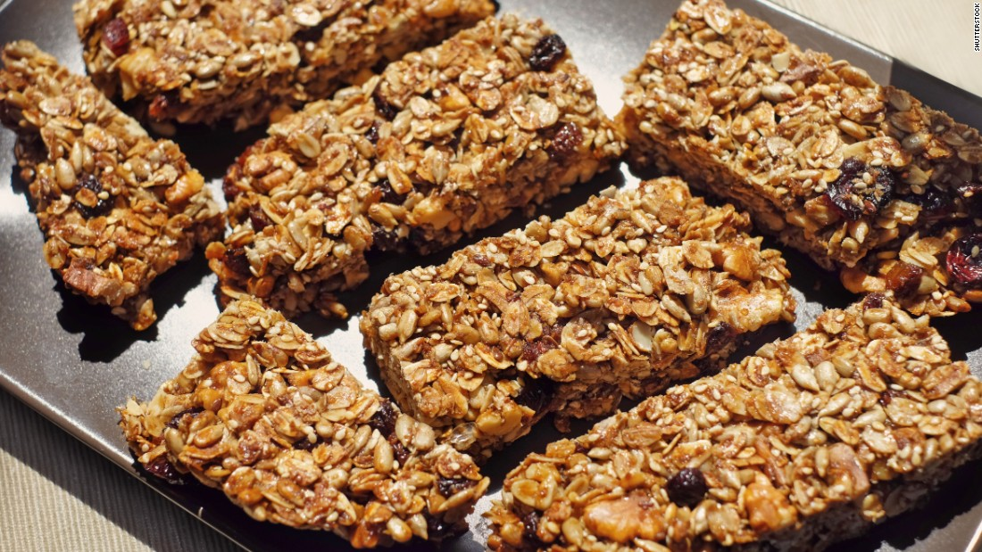 Granola bars may be quick go-to snacks, but can contain as much as 12 grams of sugar.