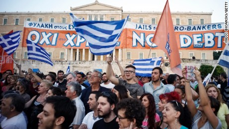 Greek protests ahead of likely default