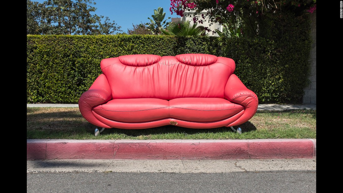 "Andrew Ward photographed this abandoned sofa on Finley Avenue in the Los Feliz neighborhood of Los Angeles. It's part of his running project called ""The Sofas of LA."""