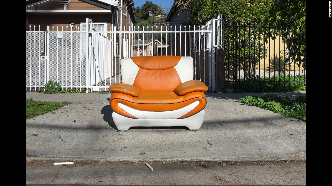 A chair on Benner Street in Highland Park.