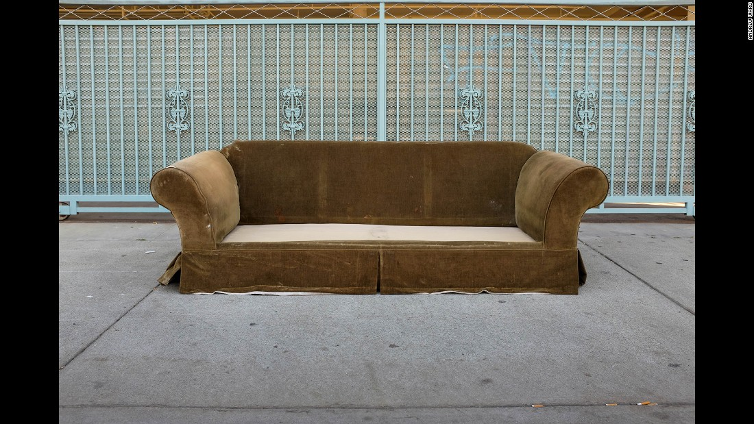 A sofa on Toledo Street in Highland Park.
