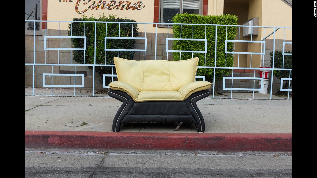 A chair on Cahuenga Boulevard in Hollywood.