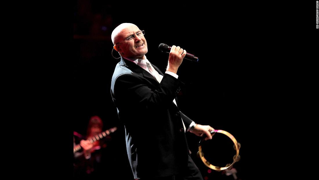 "Genesis singer Phil Collins generated buzz by performing at Live Aid in the UK and U.S. on the same day -- thanks to a trans-Atlantic flight on a supersonic Concorde airliner. Collins' hits have tapered off since the 1990s. In 2015, the singer<a href=""http://www.miamiherald.com/news/business/real-estate-news/article24633664.html"" target=""_blank""> reportedly</a> bought a $33 million Miami mansion that once belonged to Jennifer Lopez. Here he performs at the Prince's Trust Rock Gala in London in 2010."