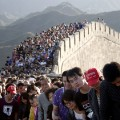 Great wall of China crowded