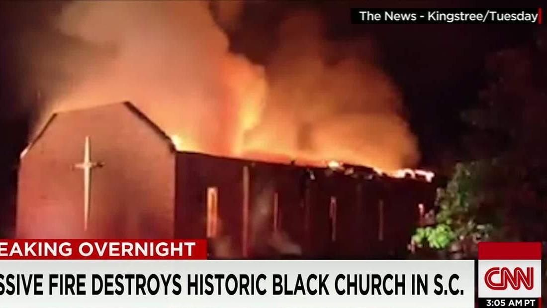 Lightning might have caused South Carolina church fire, FBI says