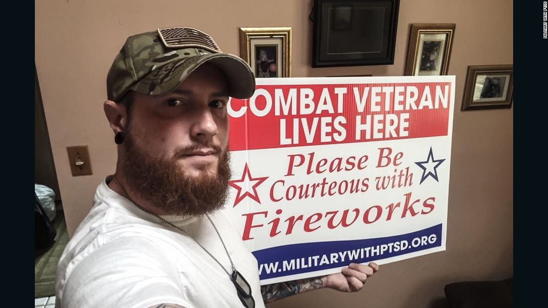 The signs are free to veterans and are just one part of what the group does for the military community. Military with PTSD had provided over 2,500 signs by the end of June after getting its first shipment in May.