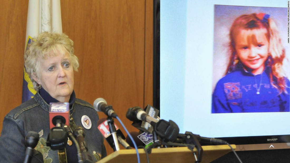 Maureen Lemieux, grandmother of Holly Piirainen, speaks to reporters in Springfield during a 2012 press conference. Holly was 10 when she was abducted and killed in 1993.