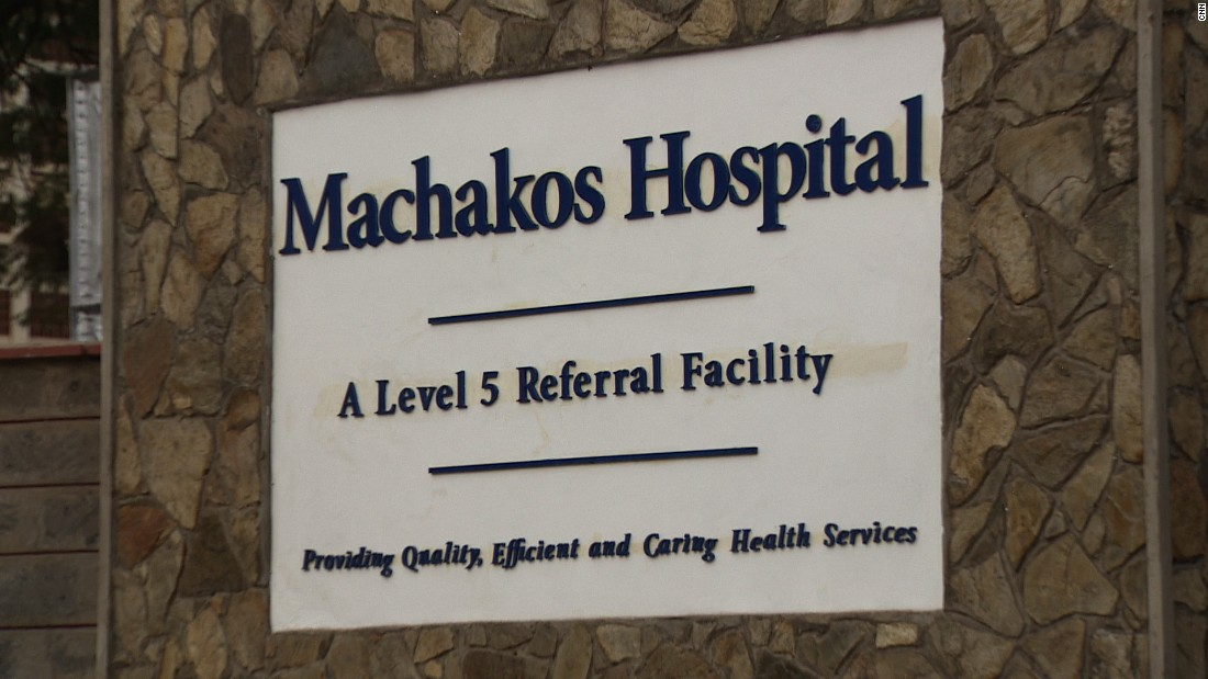 The entrance to Machakos Hospital, the first to be upgraded under Kenya's new program.