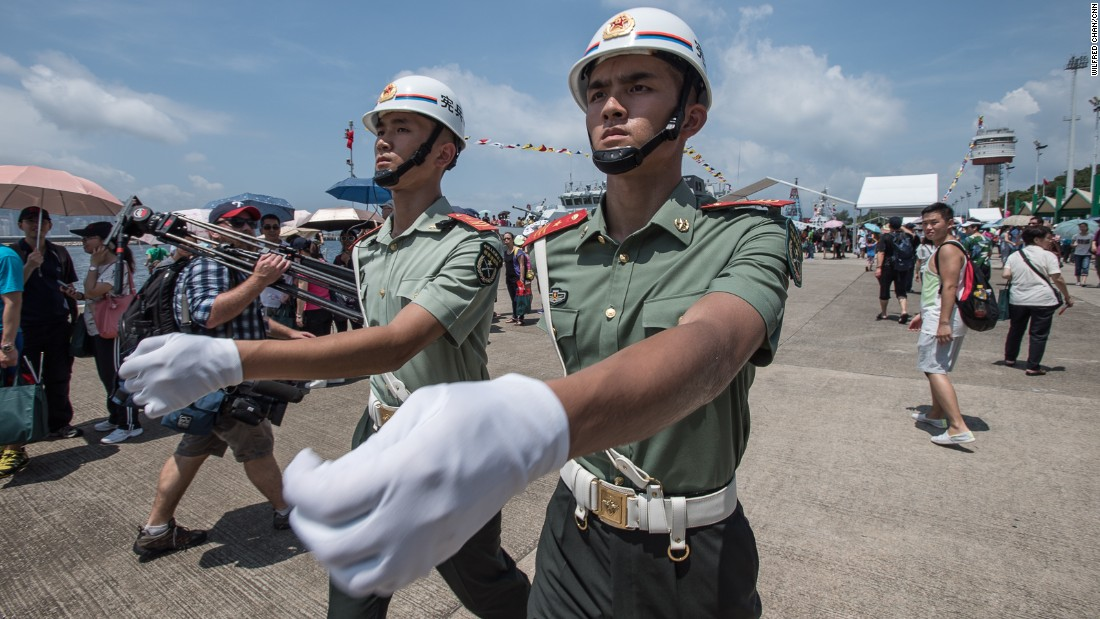 "Hong Kong's governing Basic Law stipulates the garrison ""shall not interfere in the local affairs of Hong Kong,"" but the Hong Kong government may request assistance from soldiers during emergencies."