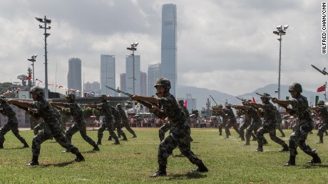 Inside China's secretive army base in Hong Kong