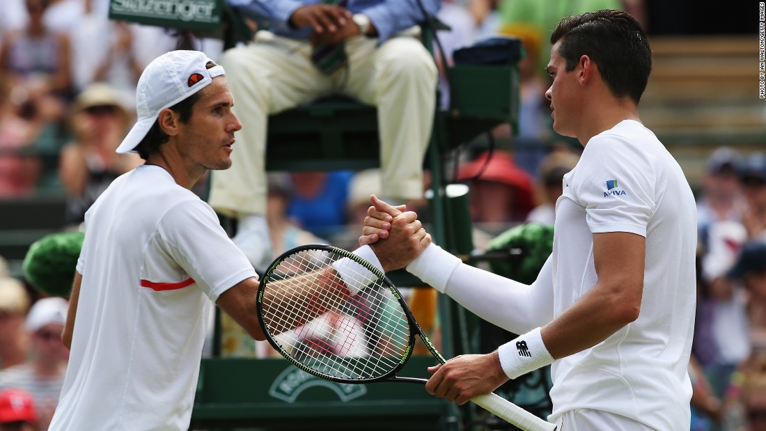 Veteran Tommy Haas, left, might have played his final match at Wimbledon, too. He lost in four sets to Canadian Milos Raonic on Canada Day.