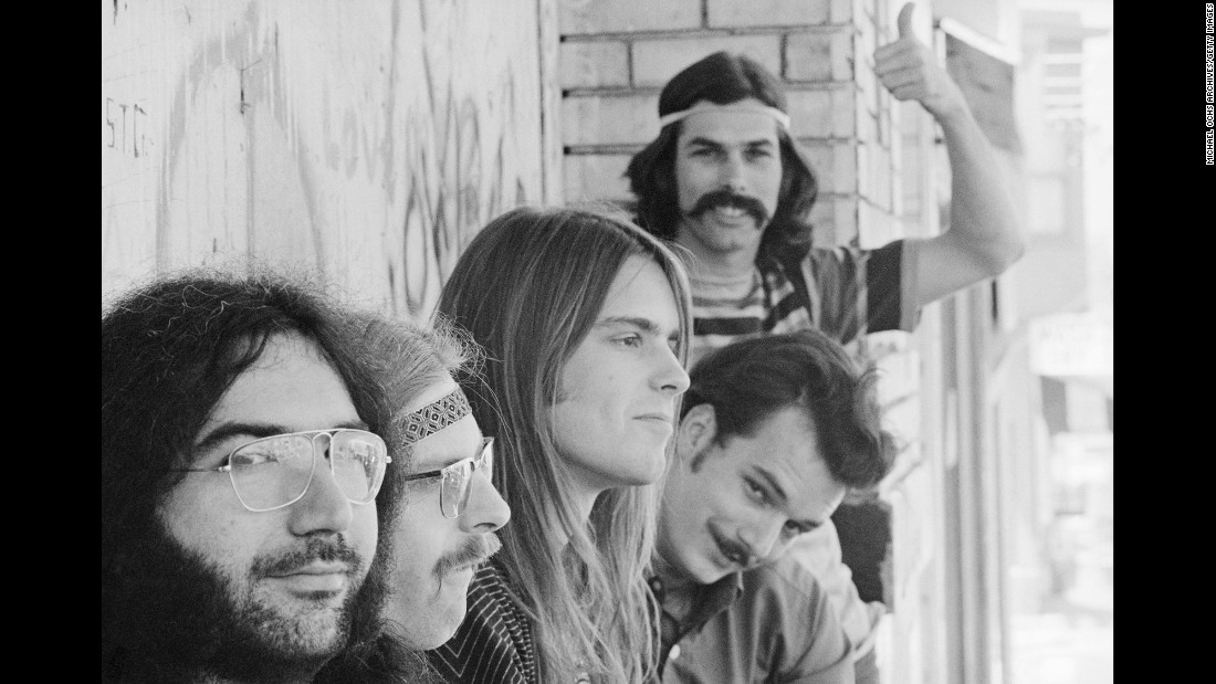 Members of the Grateful Dead -- from left, Jerry Garcia, Phil Lesh, Bob Weir, Bill Kreutzmann and Mickey Hart -- in San Francisco, circa 1968. The legendary jam band took its final bow Sunday, July 5 -- 50 years after it was formed.