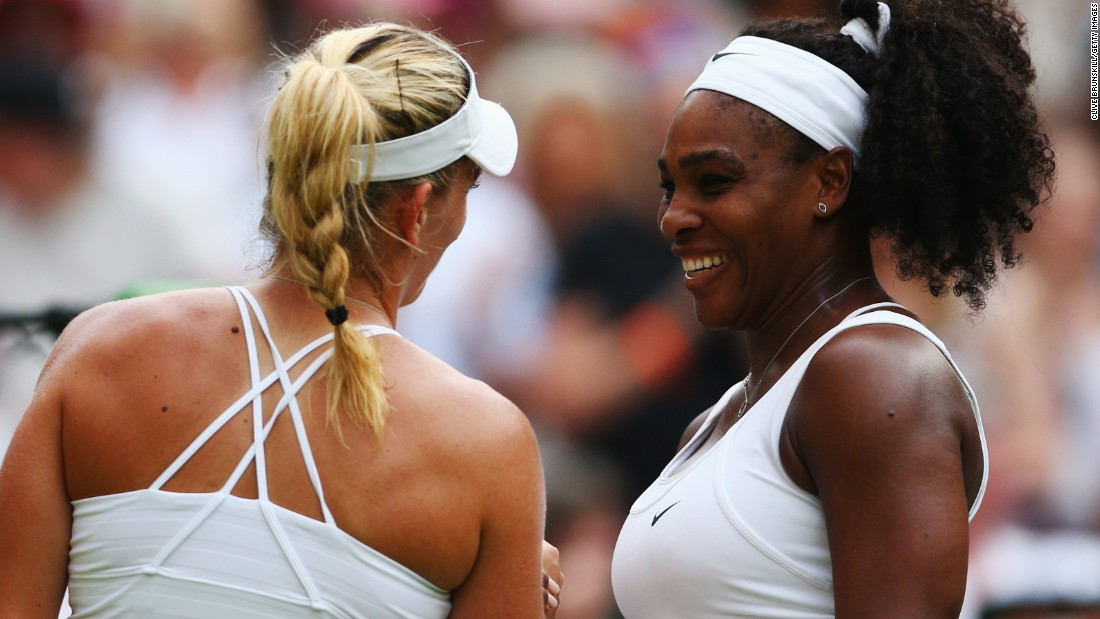 Among Wednesday's late matches, world No. 1 Serena Williams, right, cruised past Timea Babos.