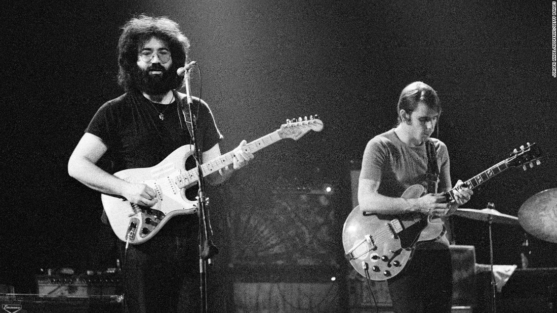 Garcia and Weir perform in Copenhagen, Denmark, in 1972.