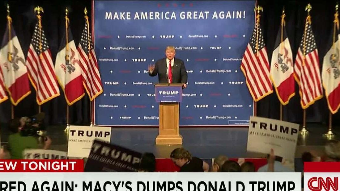 First on CNN: Macy's dumps Donald Trump