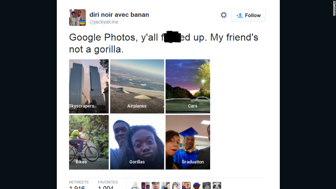 Google rushes to fix software that tagged photo with racial slur