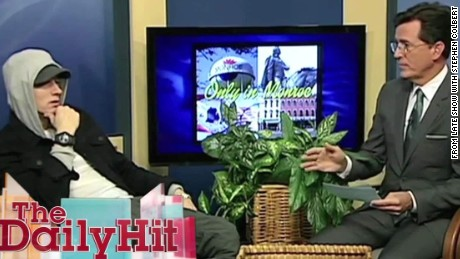 Stephen Colbert interviews Eminem on Michigan public access show Daily Hit Newday _00005130.jpg