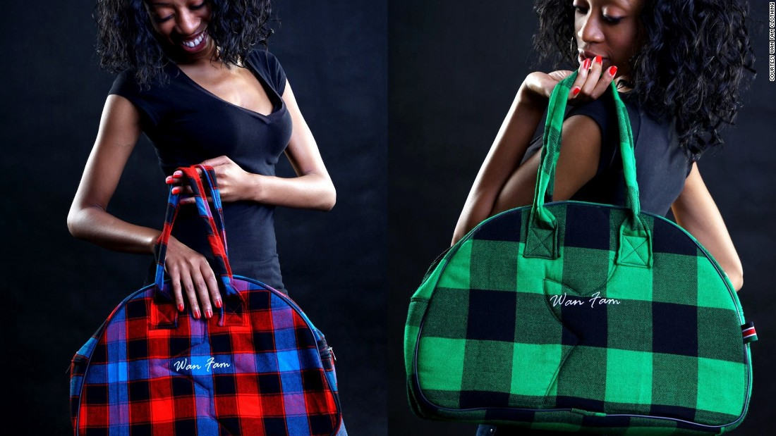 Borrowing from Maasai culture, the Nairobi-based brand combines shuka, a Maasai fabric normally wrapped around the body, with contemporary designs. In doing so, their products both pay homage to tradition whilst highlighting the trends of modern Kenya. The brand sells around 100 units a month. Bags go for $18, jackets $29, with Wan Fam saying they're able to make a good profit on each item.