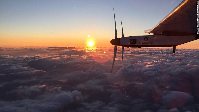The solar-powered plane landed in Hawaii back in July
