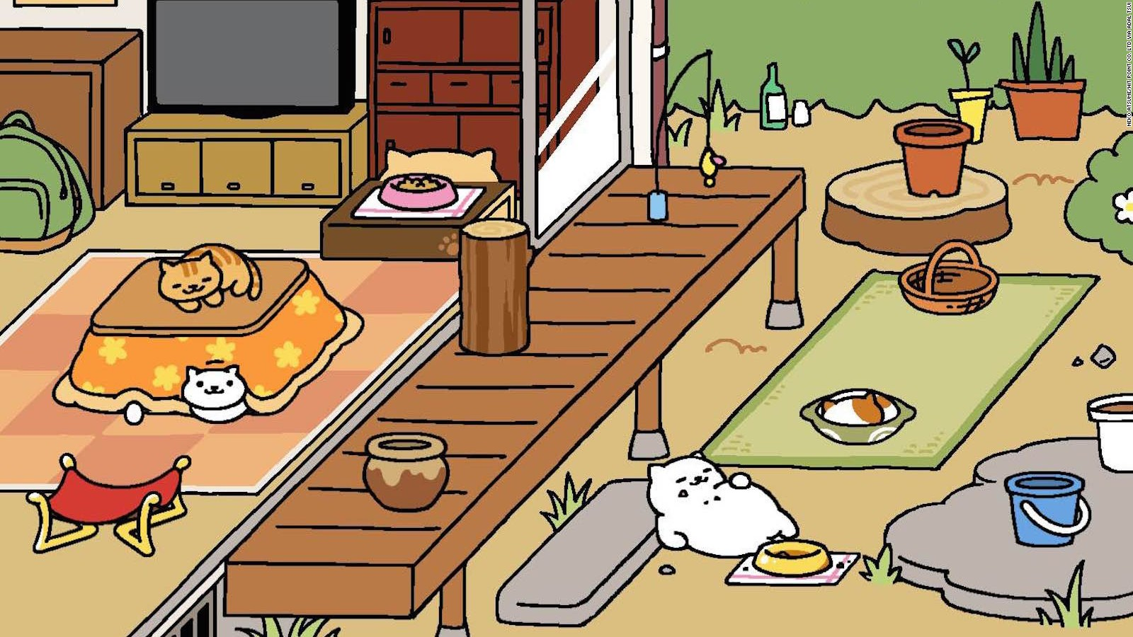 neko atsume u0027 is the addicting app where you feed cats cnn