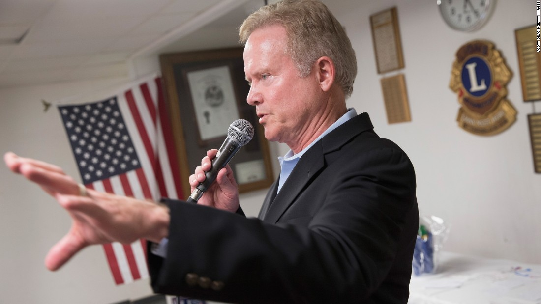 Webb entered the race considerably behind and seemingly at a disadvantage with where the Democratic electorate is moving. Here, he speaks at the Urbandale Flag Day Celebration on June 14, 2015, in Urbandale, Iowa. <br />