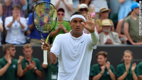 Nick Kyrgios reached the fourth round at Wimbledon after beating Canada's Milos Raonic.