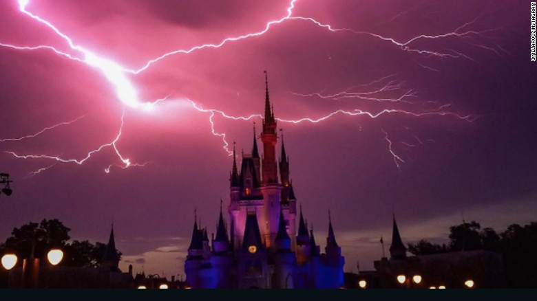 & Lightning lights up Disney Worldu0027s Magic Kingdom castle | CNN Travel azcodes.com