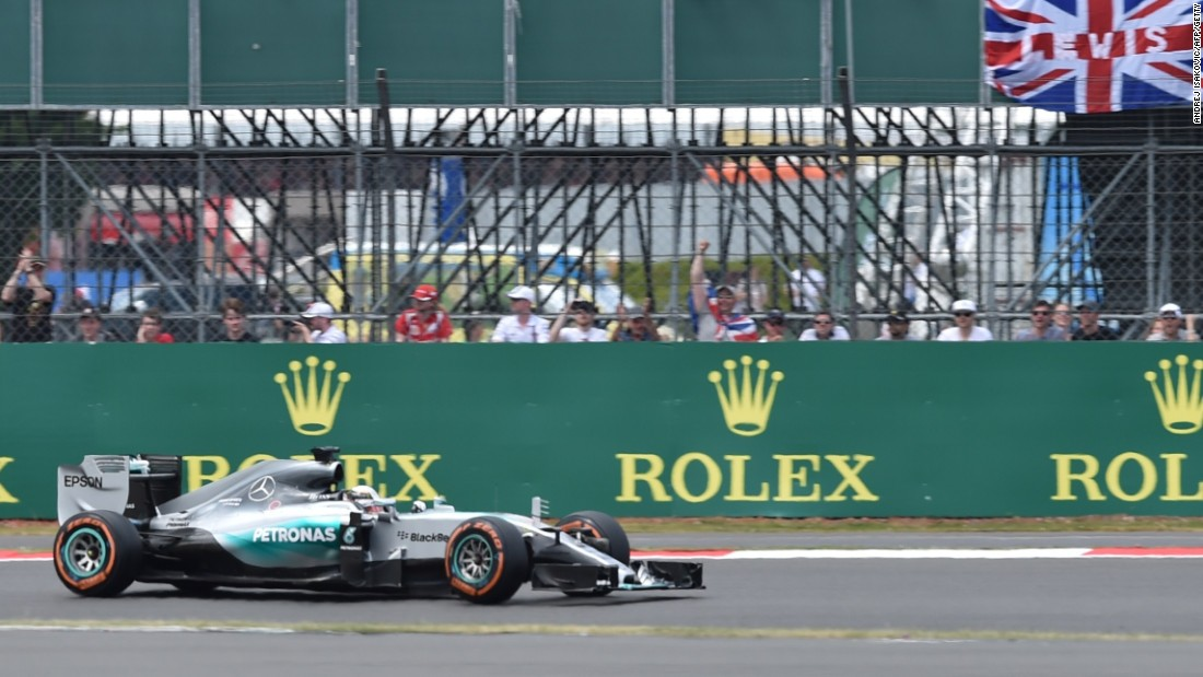 Hamilton was cheered on by a massive 140,000 crowd in his home grand prix at Silverstone.