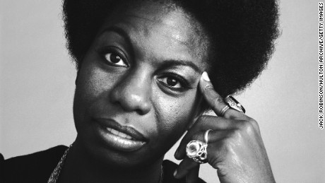Portrait of the singer Nina Simone, October 1969.