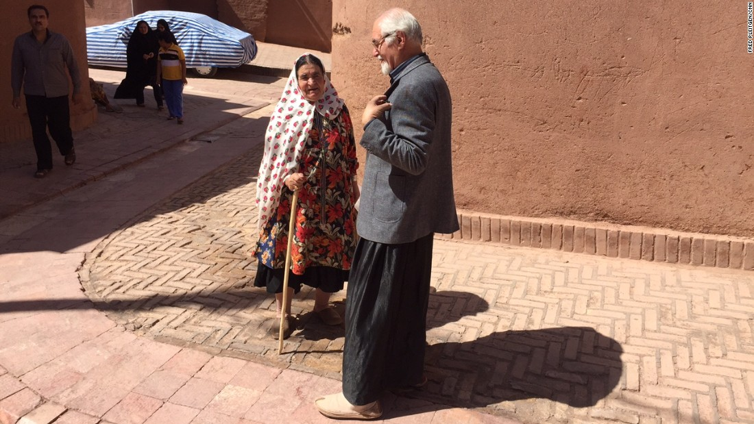 Alirezai speaks with Amiri. He tells CNN that Abyaneh used to be and still is often called upon to draw up contracts and agreements between towns and individuals because they are known for finding wise and fair solutions.