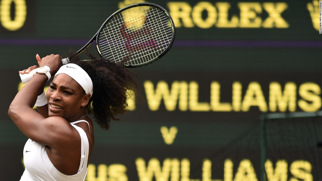 Serena Williams' clash with sister Venus highlighted fourth round play at Wimbledon on Monday.