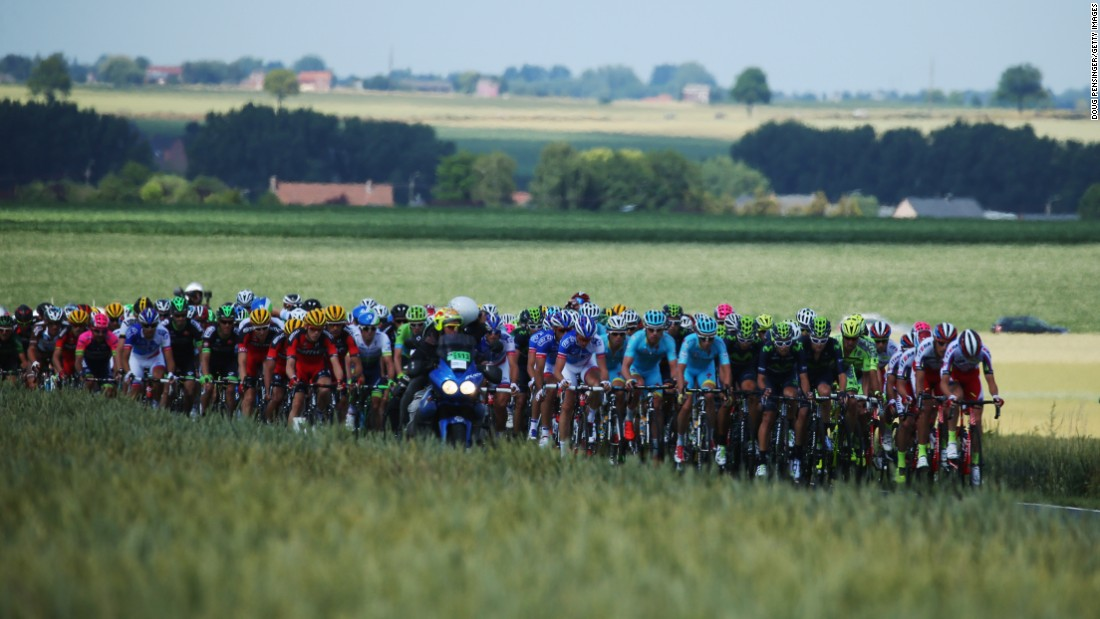 "After <a href=""http://edition.cnn.com/2015/07/05/sport/cycling-tour-cancellara-nibali/index.html"">Sunday's rain and brutal crosswinds</a>, the sun made a welcome return for the 159.5-kilometer route from Anvers to Huy in Belgium. But stage three of this year's Tour de France proved to be anything but plain sailing."