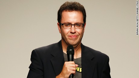 Jared Fogle walks the runway at the Project Subway show during Nolcha Fashion Week New York Spring/Summer 2014 presented by RUSK at Pier 59 Studio on September 11, 2013 in New York City.
