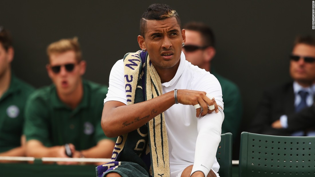 Kyrgios was the talk of Wimbledon earlier this year. His apparent decision to throw a game during his match with Frenchman Richard Gasquet drew widespread criticism and sparked a race row back in Kyrgios' native Australia.
