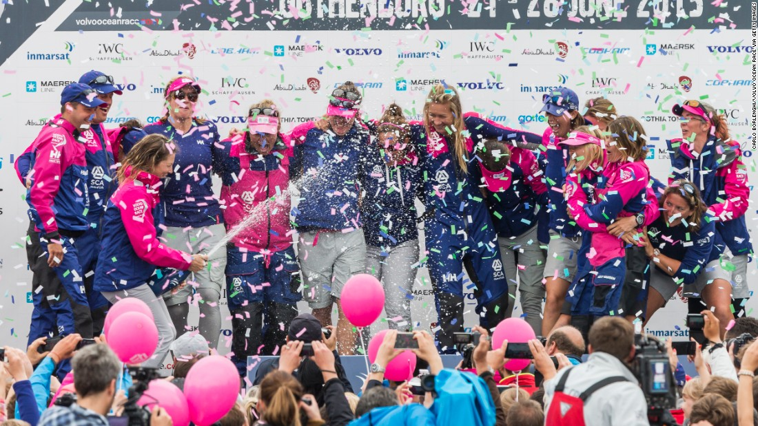Team SCA's eighth-leg victory was the first since Tracy Edwards' Maiden won two legs in 1990.