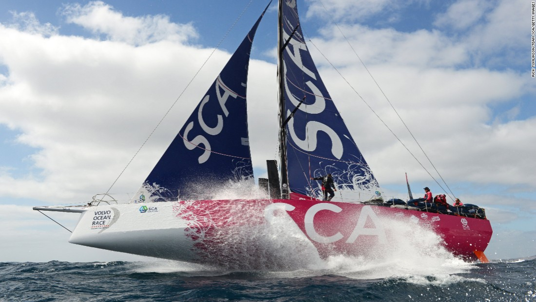"Skipper Davies told CNN's Mainsail: ""We're all really competitive and we want to win."""