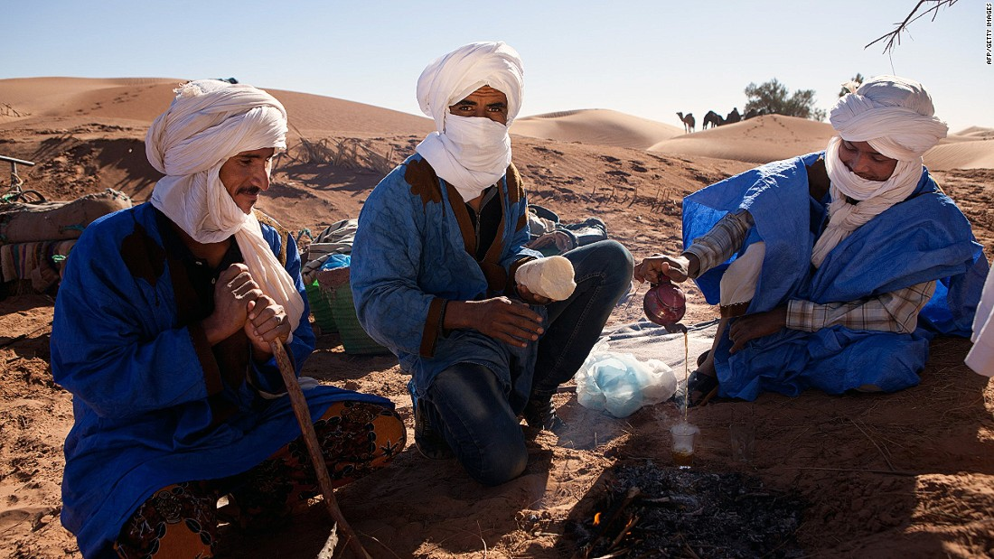 Most of the tea drunk across North Africa follows a core recipe widely followed across the Maghreb. Green leaves, historically imported from China, are steeped for as long as 15 minutes and combined with sugar, spearmint and sometimes pine nuts.