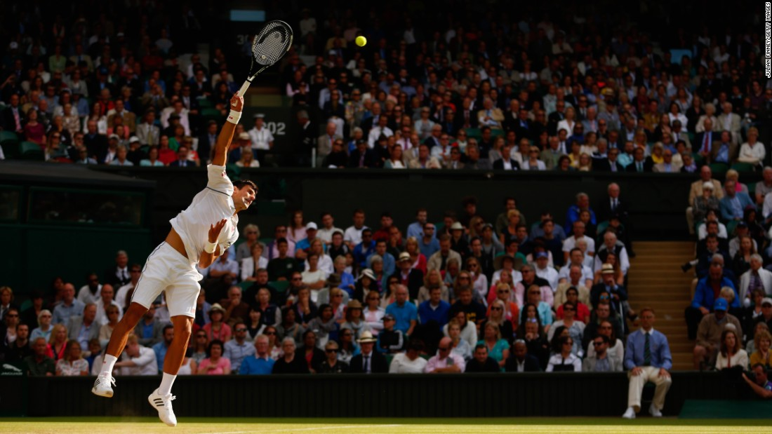 Djokovic breezed on serve -- not facing a break point -- as he improved to 13-0 against the reigning U.S. Open champion.