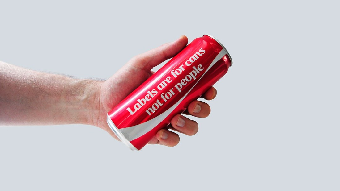 Coca-Cola sends a message with label-free cans