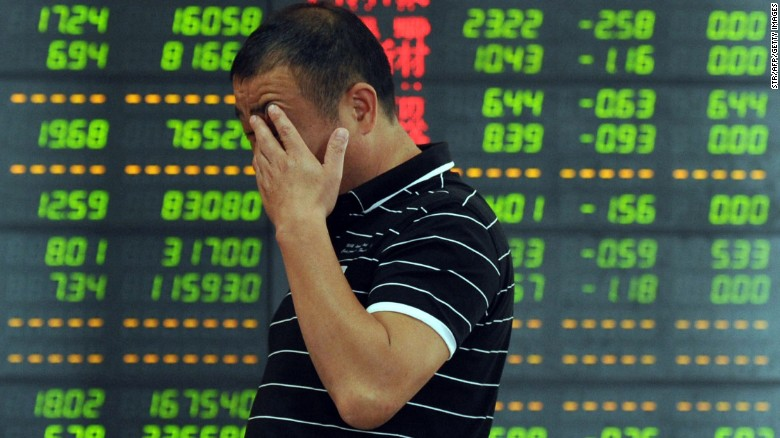 Shanghai investors see savings evaporate