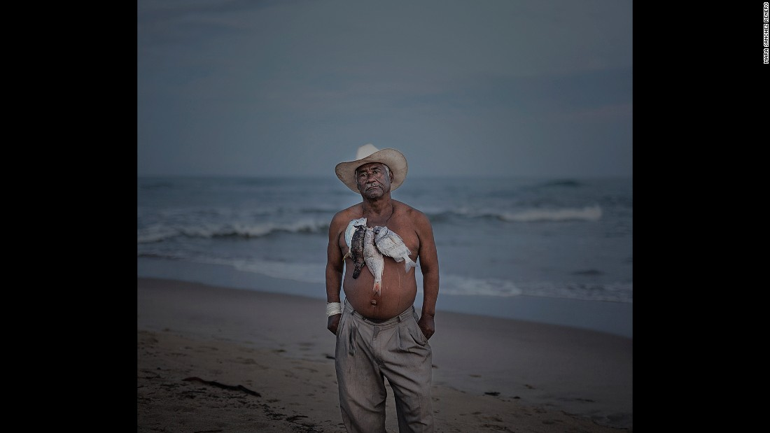 This image shows Bucho, a fisherman, musician and instructor of traditional dance.
